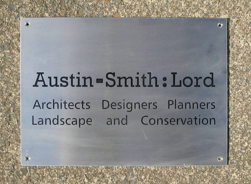 Austin Smith Lord Plaque