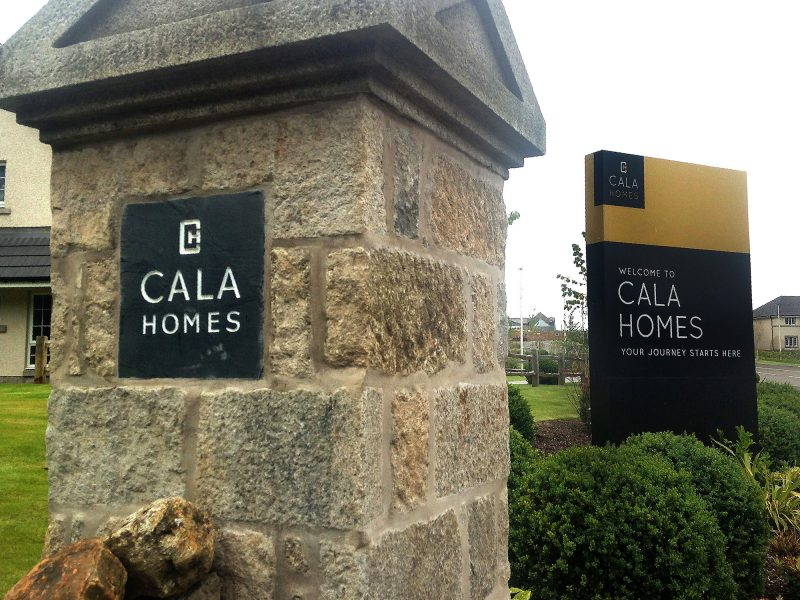Cala Homes Monolith Plaque