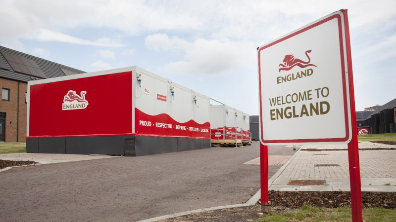 Hoarding and Signage for Team England Athletes Village
