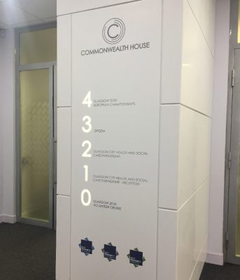 Wayfinding for Headquarters – Glasgow 2014 Commonwealth Games