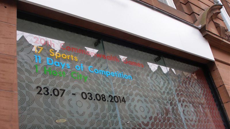 External Window Graphic for Glasgow 2014 Commonwealth Games