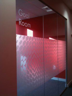 Goal Room Internal Window Graphic