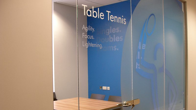 Table Tennis Internal Window Graphic