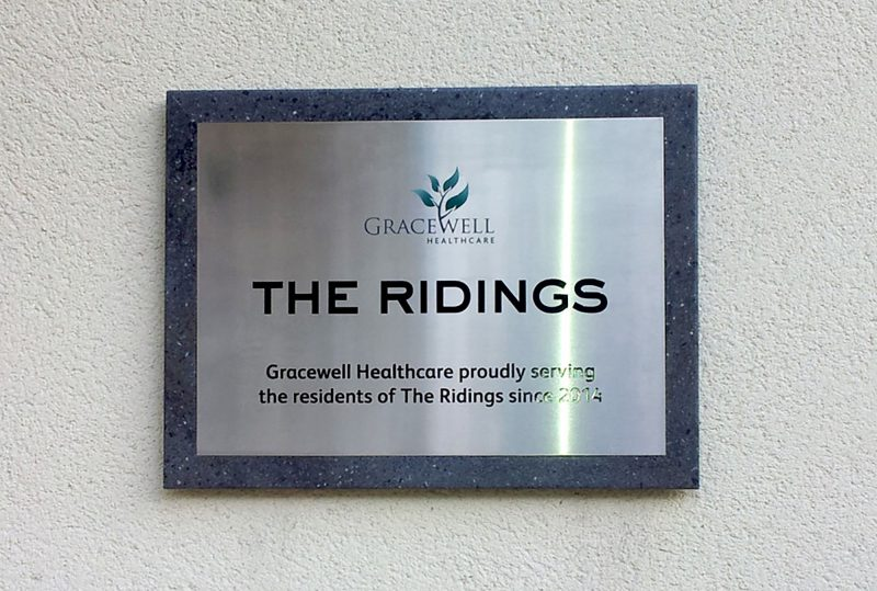 The Ridings Care Home Plaque