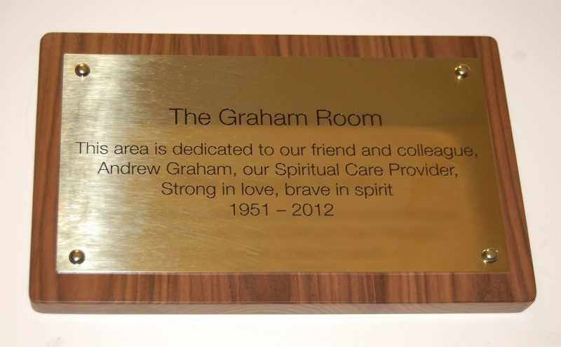 Graham Room Internal Brass Plaque