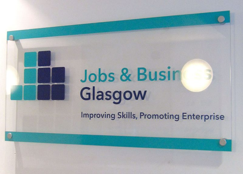 Jobs & Business Glasgow Plaque