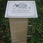 Rottenrow Gardens Plaque