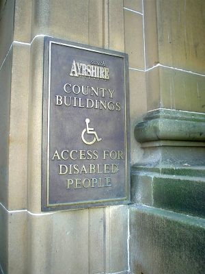 South Ayrshire Disabled Access Plaque