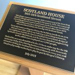Scotland House Plaque