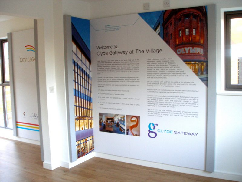 City Legacy Clyde Gateway Graphic Panel