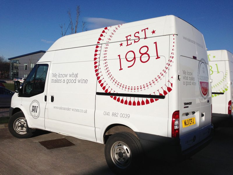 Alexander Wines Vehicle Branding