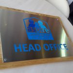 Head Office Stainless Steel Engraved Plaque