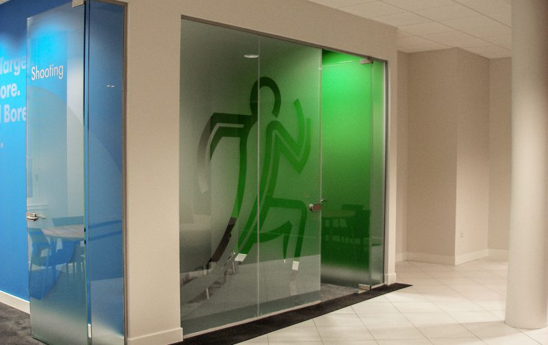 Frosted Vinyl On Glass Office