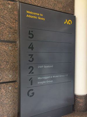Corian Directional Signage