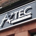 Aztec Hair Studio Stand Off Lettering