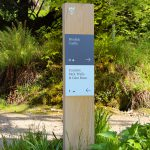 Oak Monolith with Printed Aluminium Directional Panels