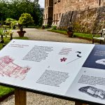 Interpretative Graphic Panel Illustrating Brodick Castle History