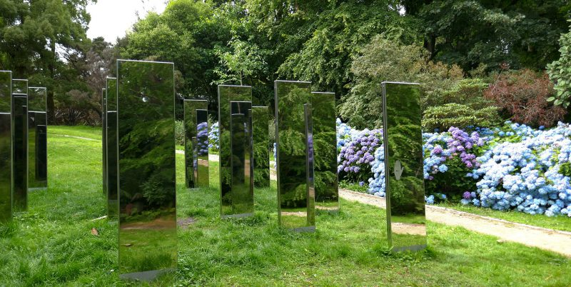 Sand-blasted Mirrored Steel Monoliths at Brodick Castle