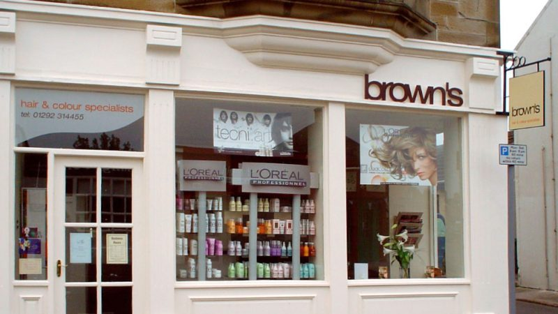 Brown's Shop Front Fascia
