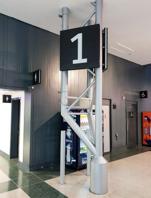 Wayfinding Signs in Events Venue