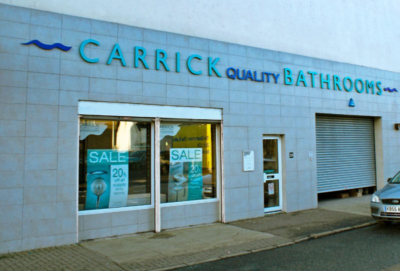 Carrick Bathrooms Fascia Sign