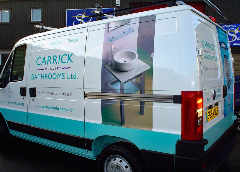 Carrick Bathrooms Vehicle Livery