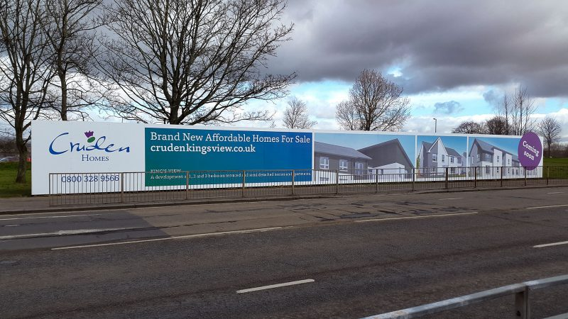 Cruden Homes King's View Hoarding