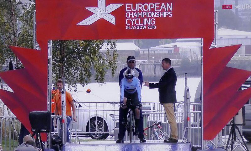 Starting Gate at European Cycling Championships 2018