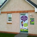 Persimmon Door banner and Plot Board