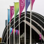 Branded flags at World Gymnastics Championships Glasgow 2015