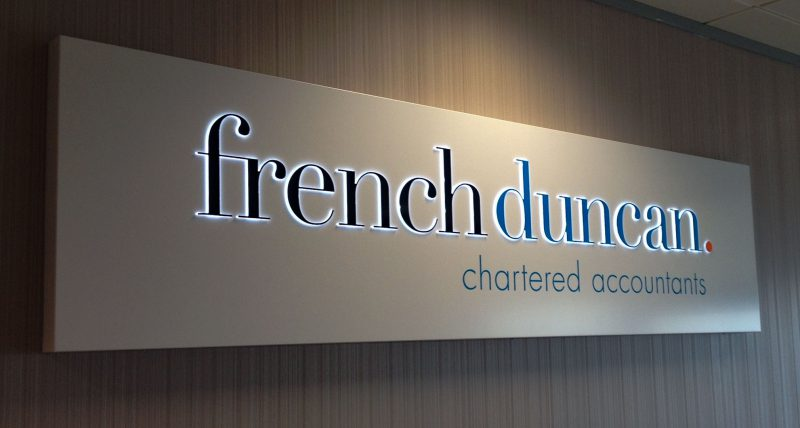French Duncan Illuminated Lightbox