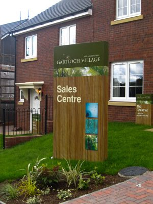 Gartloch Village Sale Centre Signage