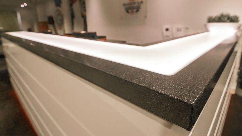 Corian Reception Desk Detail