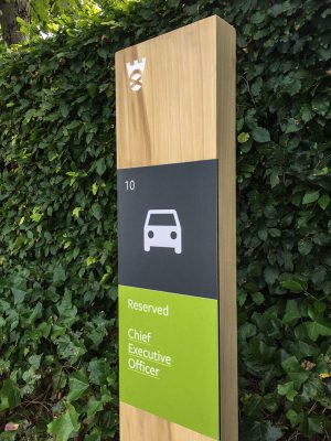 Oak Monolith with Printed Aluminium Graphic Panels