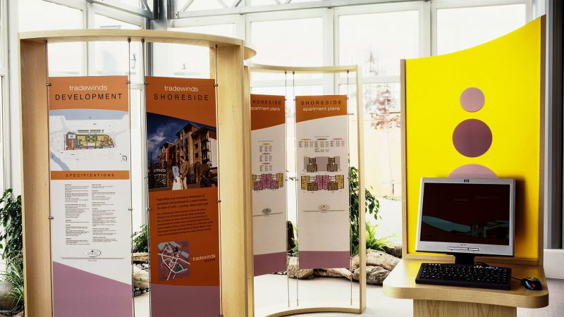 Display Stands with House Type Graphic Panels