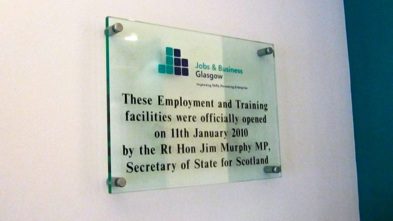Jobs & Business Glasgow Perspex Plaque