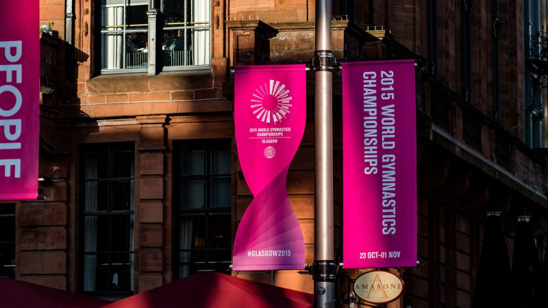 World Gymnastics Championships Glasgow 2015 Lampost Banners