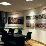 Mactaggart and Mickel Bespoke Curved Wall Graphics