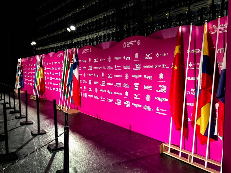 Printed Aluminium Backdrop for World Gymnasticts Championships