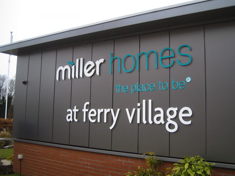Miller Homes Ferry Village Exterior Cabin Signage