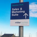 Miller Homes Post-mounted Directional Sign