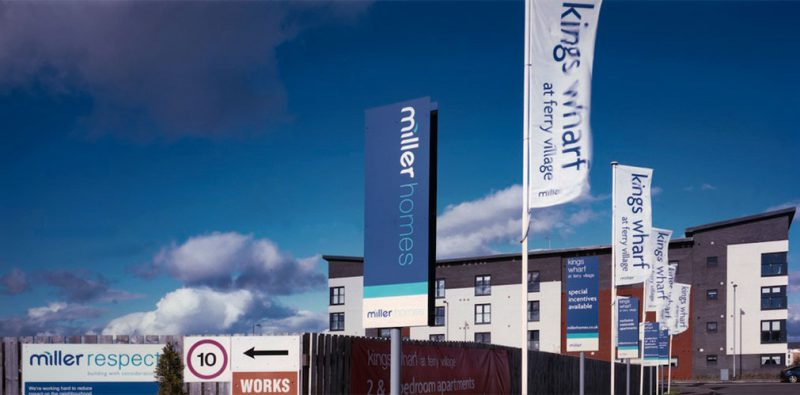 Miller Homes King's Wharf Flags