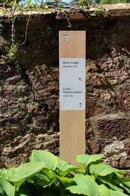 Oak Wayfinding Monolith with Printed Aluminium panels