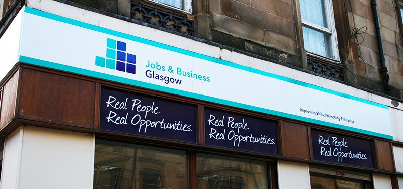 Jobs & Business Glasgow Printed Office Fascia