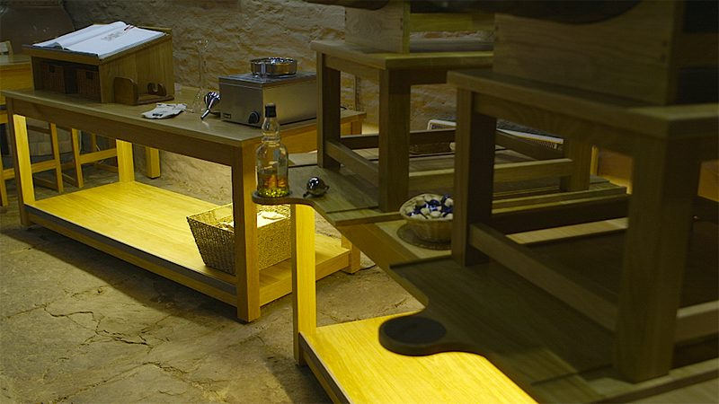 Old Pulteney Distillery Visitor Centre Custom Made Oak Furniture