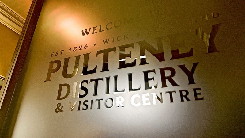 Old Pulteney Distillery Cut Out Frosted Vinyl