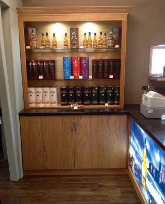 Old Pulteney Display Case and Illuminated Decal