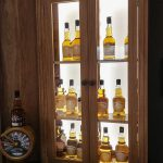 Old Pulteney Oak Whisky Display Cabinet