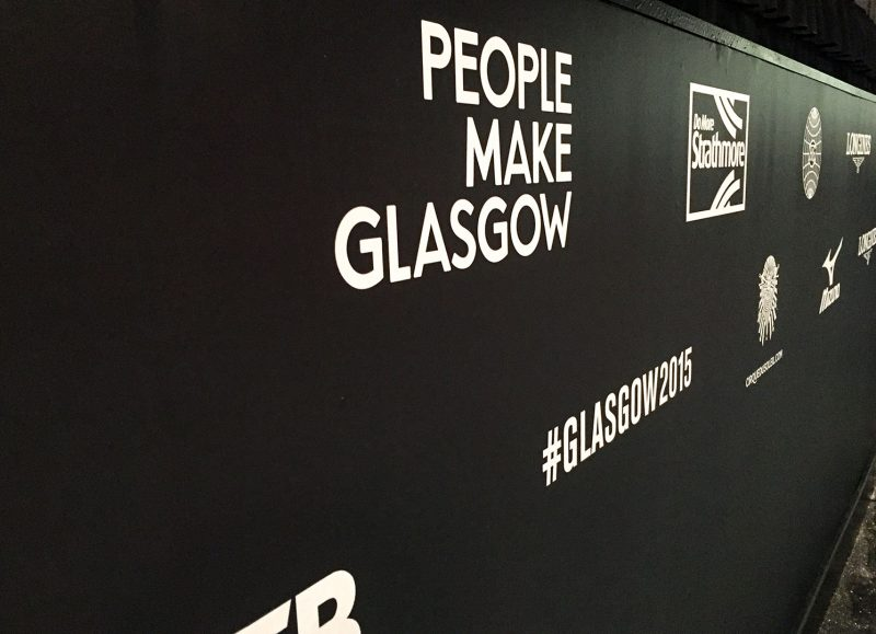 Perimeter Hoarding for World Gymnastics Championships Glasgow