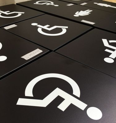 Wayfinding Pictograms on Signage Components